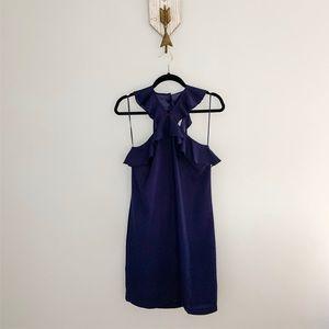 CeCe Purple Elsie Open Back Ruffle Strap Dress